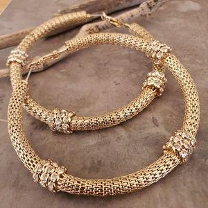 Catherine Malandrino Huge Gold Byzantine Hoops